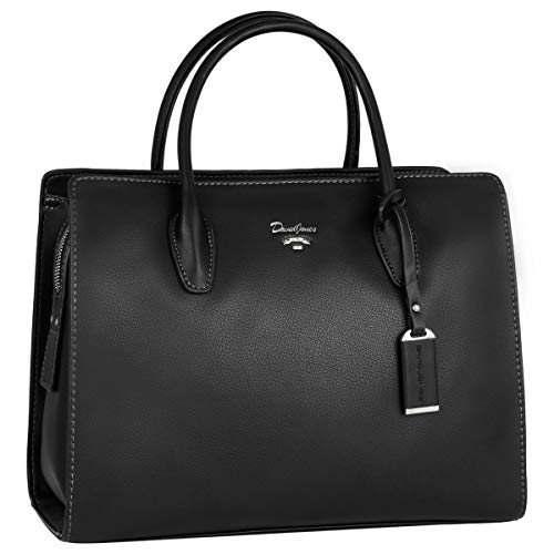 David Jones - Borsa a Mano Elegante Donna - Tote Shopper Bag PU Pelle...