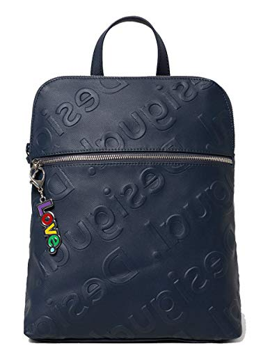 Abasic Desigual Back New Colorama Zaino Logo in Rilievo Blu