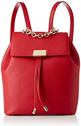 Trussardi Jeans, AMSTERDAM BACKPACK MD MONOCOLO Donna, Red, NR