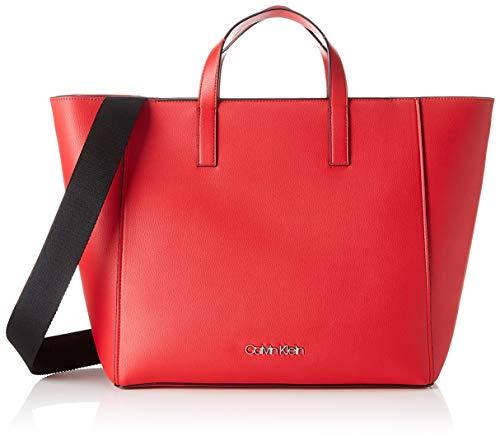 Calvin Klein Strap Shopper - Borse Tote Donna, Rosso (Lipstick Red),...