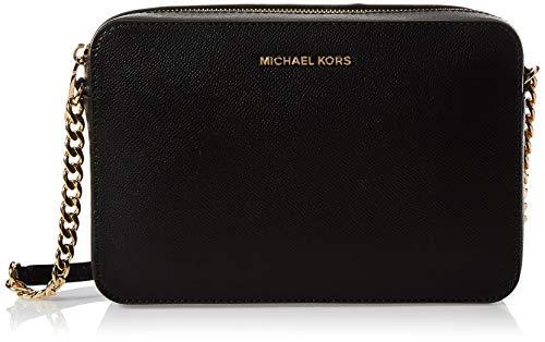 Michael Kors Jet Set Large, Borsa a Tracolla Donna, Nero (Black),...