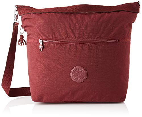 Kipling ESTI, Tote Bag Donna, Intense Maroon, 15x47.5x39 cm