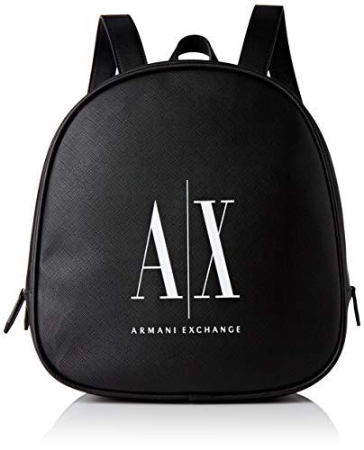 ARMANI EXCHANGE Backpack, Zaino Donna, Black White, One Size
