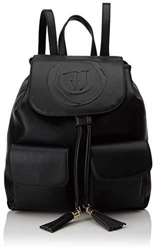 Trussardi Jeans Faith Backpack Tumbled Ecoleat, Zaino Donna, Nero...