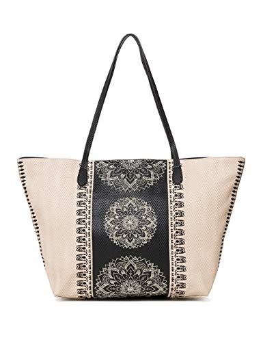Desigual Bag Lady Capri Zipper Women - Borse a spalla Donna, Bianco...
