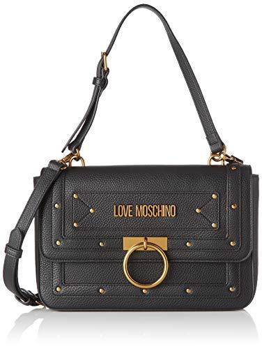 Love Moschino Jc4063pp1a, Borsa a Spalla Donna, Nero (Nero), 6x18x29...