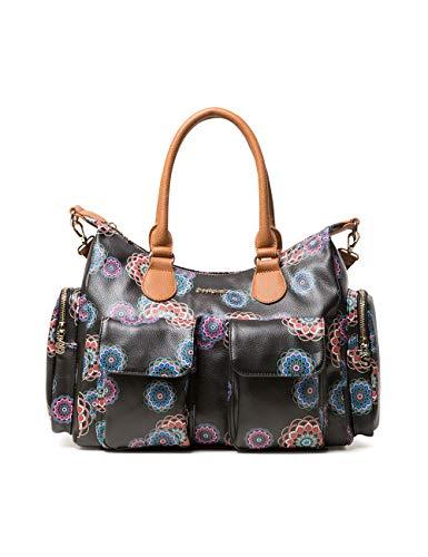 Desigual Bag Mandri London Women - Borse a spalla Donna, Nero (Negro),...