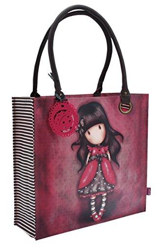 Gorjuss, grande borsa per gli acquisti, rivestita. Motivo: coccinella