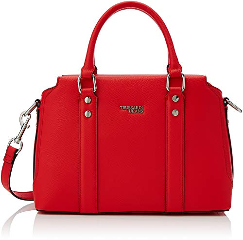 Trussardi Jeans Berry Bauletto, Borsa a Mano Donna, Rosso (Red),...