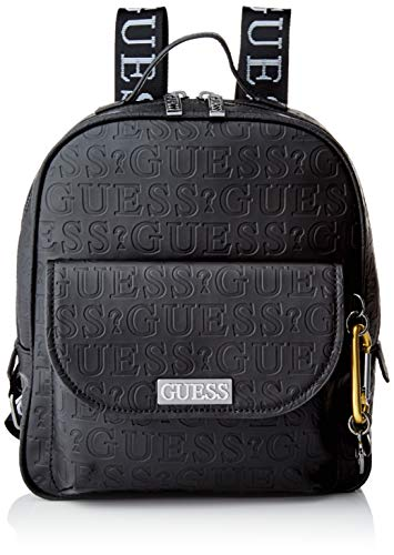 Guess Lane Large Backpack, Donna, Black, One Size
