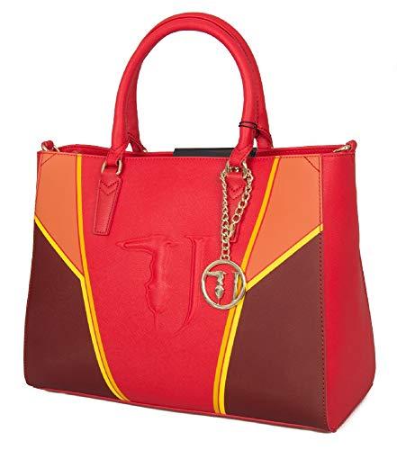 Trussardi Jeans Borsa Donna Ischia Ecopelle Red...