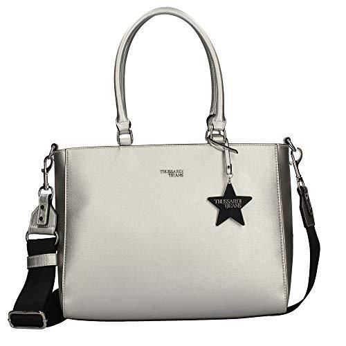 Trussardi Jeans Borsa t-easy star shopper 75B00670 M020 silver