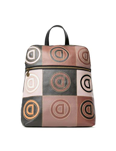 Desigual ACCESSORIES PU BACKPACK MEDIUM, Zaino Donna, marrone, U