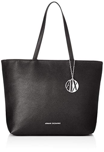 ARMANI EXCHANGE Womans Shopping - Borse Tote Donna, Nero (Black),...