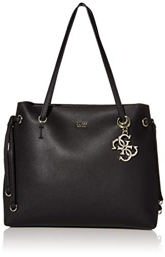 Guess Digital Shopper Borsa a Spalla da Donna, Nero, Taglia Unica