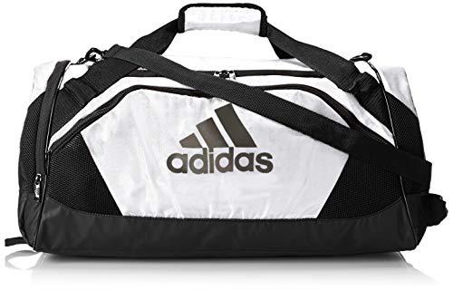 Adidas Team Issue II - Borsone medio, taglia unica, colore: Bianco