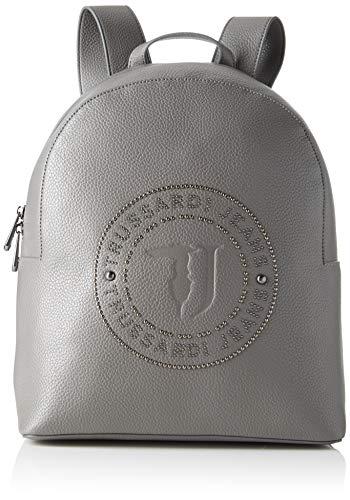 Trussardi Jeans Harper Backpack MD Tumbled Eco, Zaino Donna, Grigio...