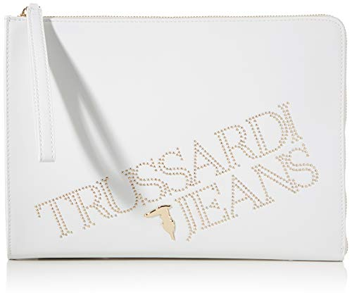 Trussardi Jeans, POUCH ECOLEATHER LIGHT GOLD ST Donna, W001, NR