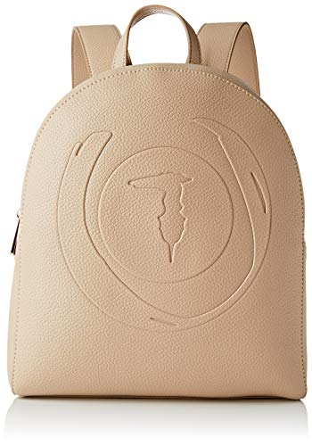 Trussardi Jeans, FAITH BACKPACK TUMBLED ECOLEAT Donna, Taupe, NR