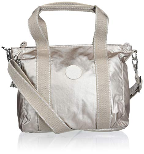Kipling Asseni Mini Tote Bag, Luminosità metallizzata. (Oro) - KI3572