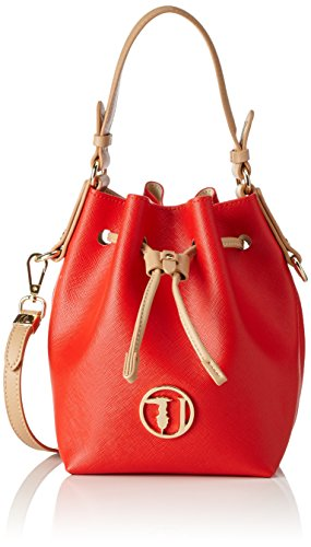Trussardi 75bp0553, Borsa a secchiello Donna, Multicolore (Red/White),...