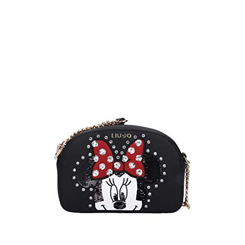 Borsa donna Liu-jo Tracolla Crossbody Disney in ecopelle nero BS20LJ60