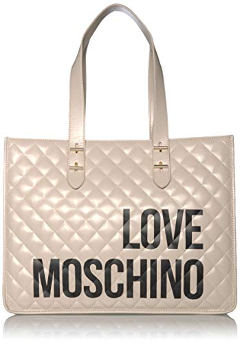 Love Moschino Borsa Quilted Nappa Pu, Tote Donna, (Avorio), 32x42x16...