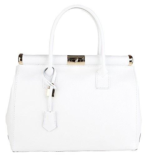 Chicca Borse Handbag Borsa a Mano da Donna con Tracolla in Vera Pelle...