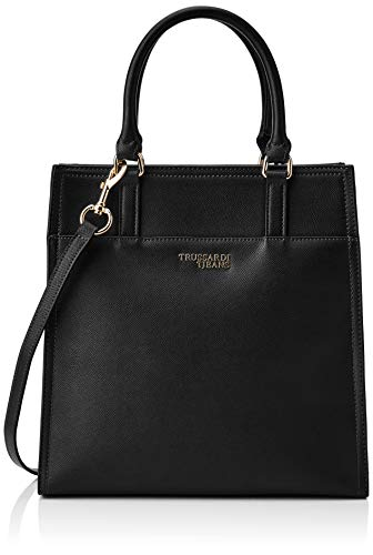 Trussardi Jeans T-easy Light Tote, Borsa Donna, Nero (Black), 31x30x12...