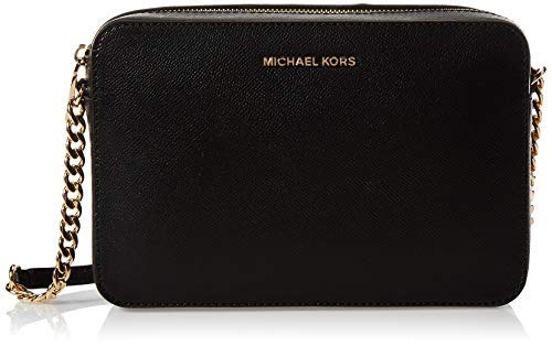 Michael Kors Jet Set Large, Borsa a Tracolla Donna, Nero (Black),...
