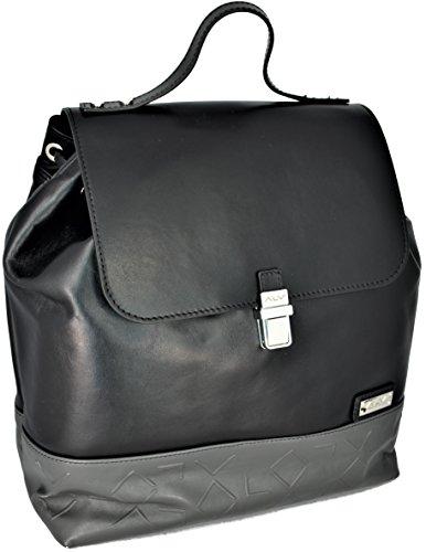ALVIERO MARTINI Zaino Unisex Nero/Grigio Backpack Unisex Black/Grey