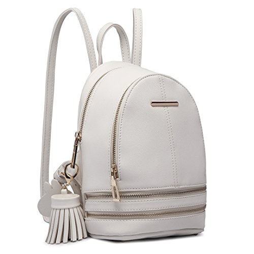 Miss Lulu Casual Fashion Cute Small Saffiano Satchel Backpack per...