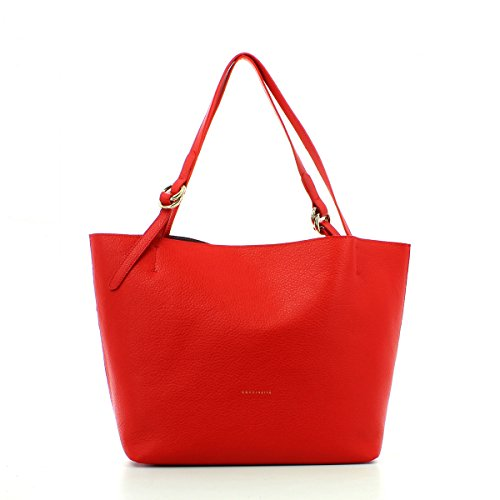 COCCINELLE DAVON DOUBLE SHOULDER BAG YI5110201 215 ROSSO 215