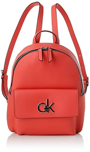 Calvin Klein Re-lock Backpack Sm - Zaini Donna, Rosso (Coral), 1x1x1...