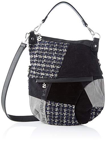 Desigual Bag Liberté Patch Folded, Borsa a Cartella Donna, Nero...