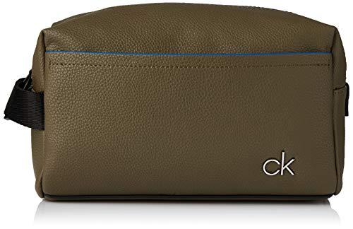 Calvin Klein Ck Direct Washbag - Borse a spalla Uomo, Verde (Olive),...