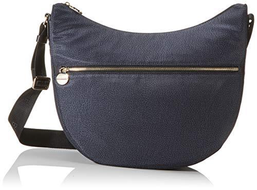 Borbonese Luna Bag Small, Borsa a Tracolla Donna, Nero (Nero/Nero),...