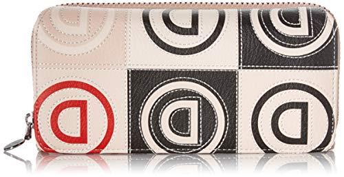 Desigual Mone_Logo Patch_Maria Portafoglio da donna, Beige (Beige), 3...