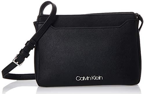 Calvin Klein Worked Ew Xbody - Borse a tracolla Donna, Nero (Black),...