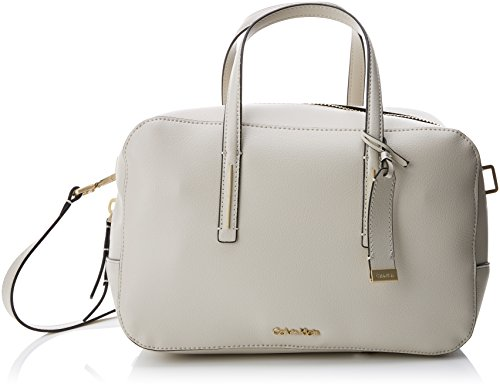 Calvin Klein Frame Duffle - Borse a secchiello Donna, Bianco (Cement),...