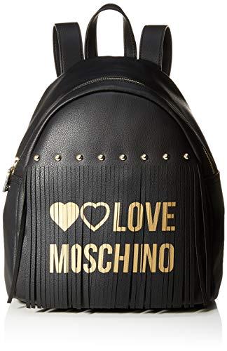 Love Moschino Pu, Borsa a Zainetto Donna, (Nero), 30x12x28 cm (W x H x...