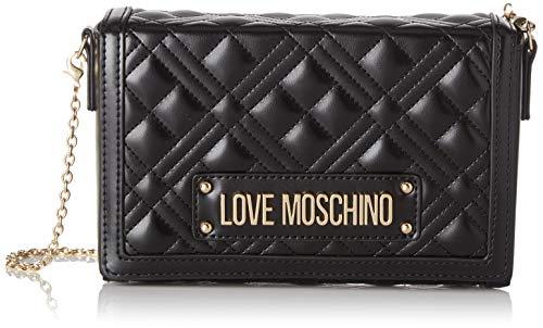 Love Moschino Jc4054pp1a, Borsa a Tracolla Donna, Nero (Nero), 5x13x20...