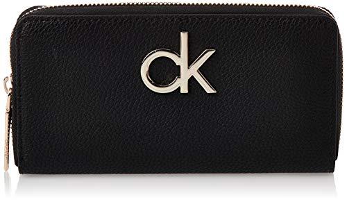 Calvin Klein Re-lock Lrg Ziparound - Borse a tracolla Donna, Nero...