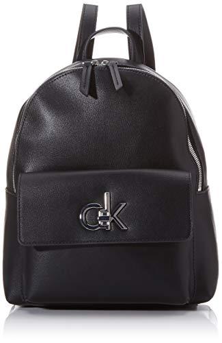 Calvin Klein Re-lock Backpack Sm - Zaini Donna, Nero (Black), 1x1x1 cm...