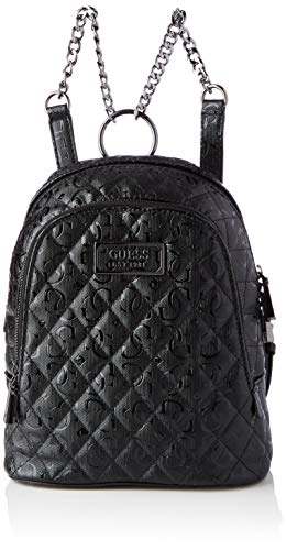 Guess Lola Backpack, Bags Satchel Donna, Black, One Size