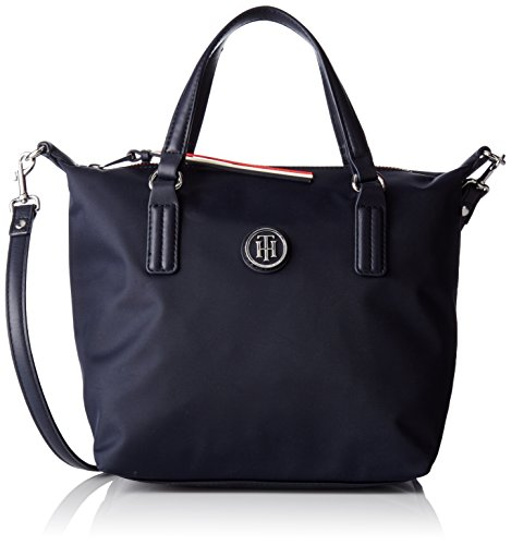Tommy Hilfiger Poppy Small Tote, Borsa a Tracolla Donna, Blu (Tommy...