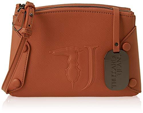 Trussardi Jeans 75B00456-9Y099999, Borsa a Tracolla Donna, Marrone...