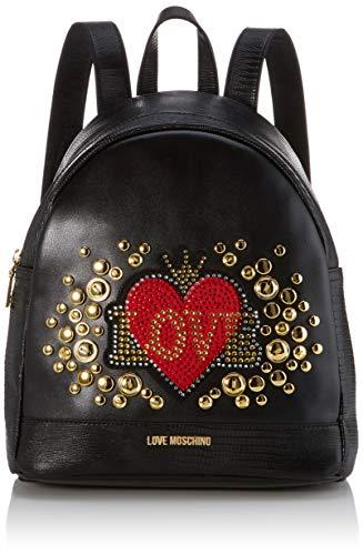 Love Moschino Pu, Borsa a Zainetto Donna, (Nero), 30x11x28 cm (W x H x...