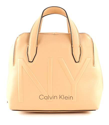 Calvin Klein Shaped Sml Duffle - Borse a tracolla Donna, Beige (Dark...