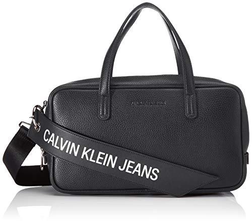 Calvin Klein Ckj Banner Medium Duffle - Borse a secchiello Donna, Nero...